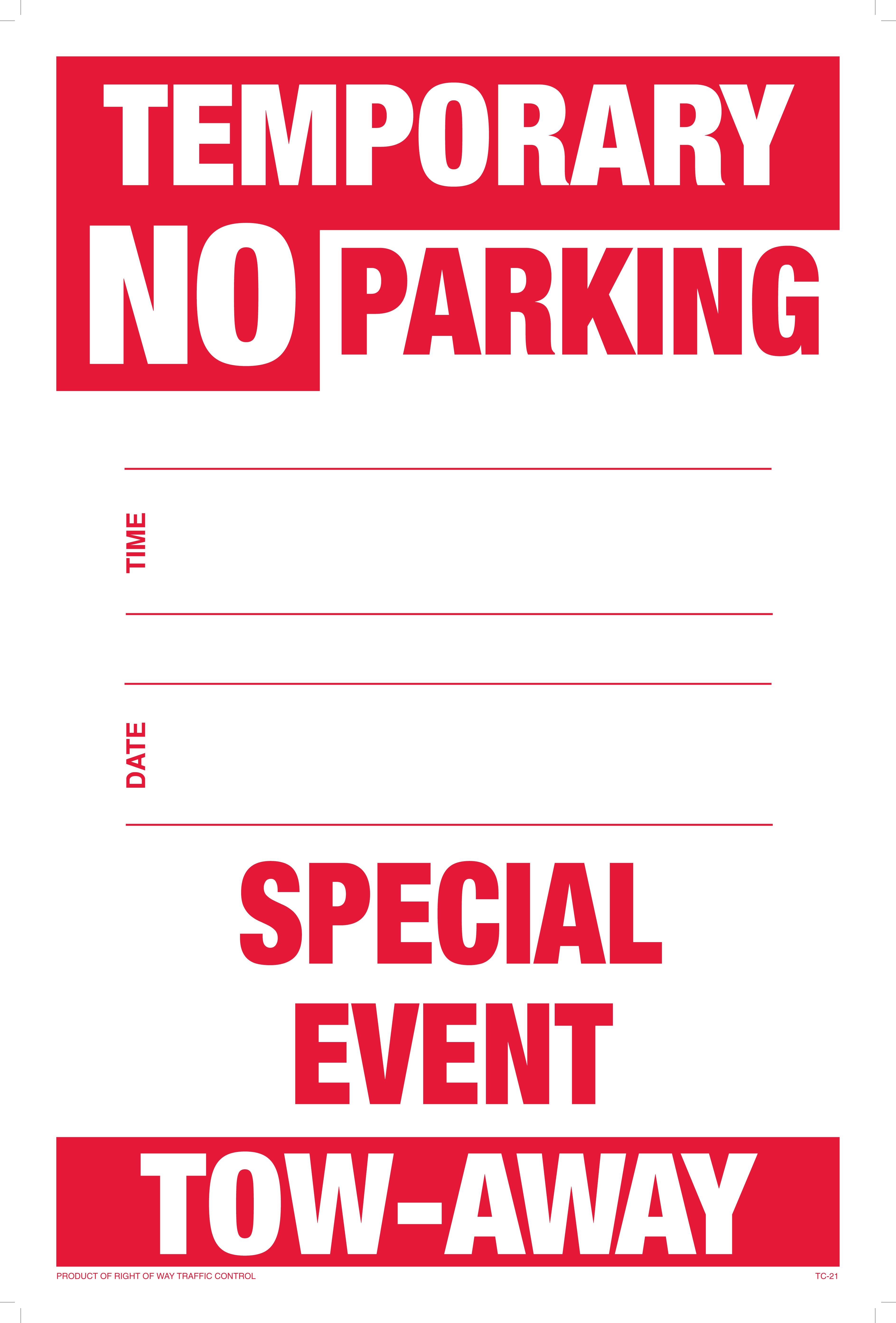 It's just a graphic of Enterprising Printable No Parking Sign
