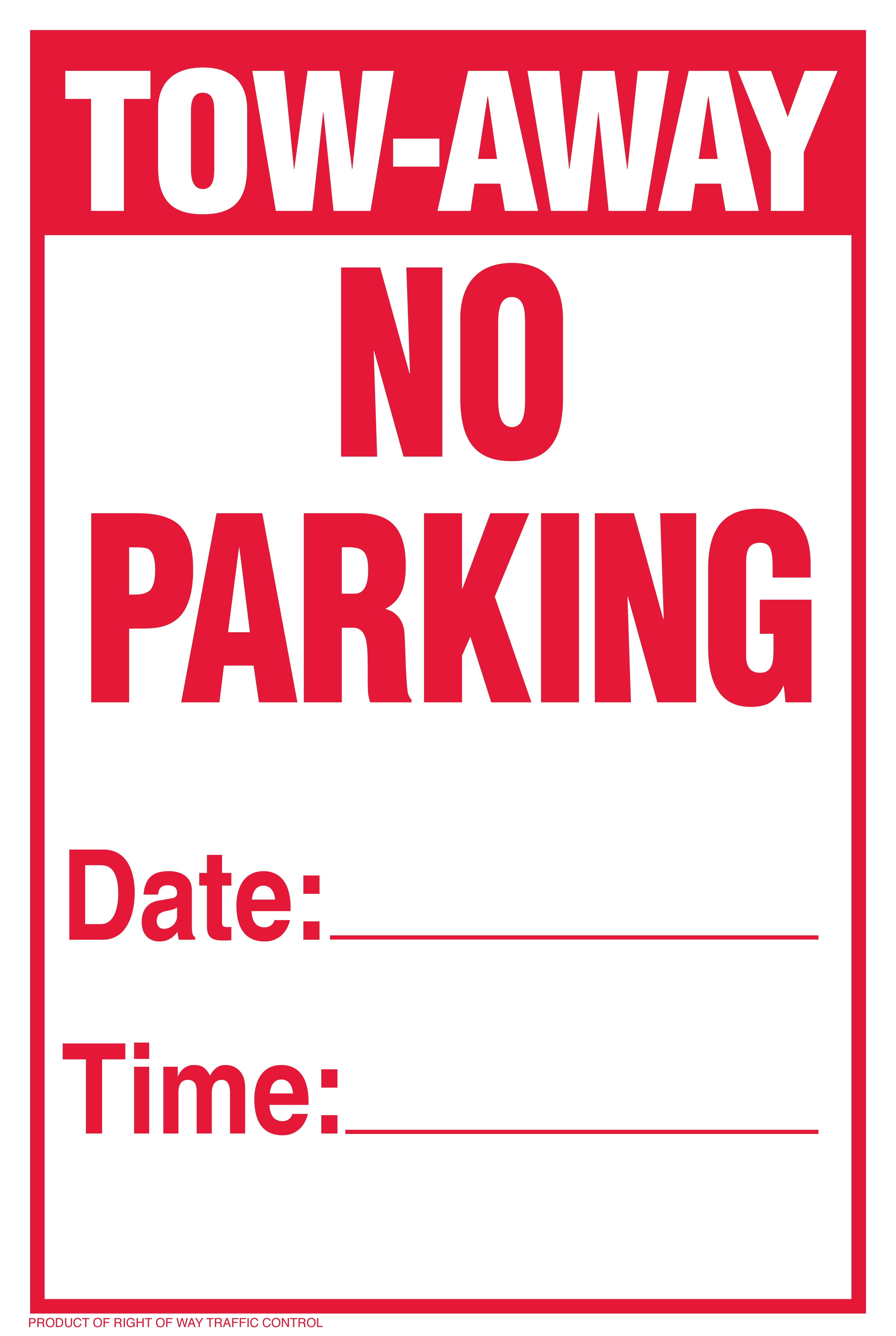 It is a picture of Stupendous Printable No Parking Sign