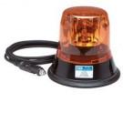 Ecco Amber Economy Rotator Beacon w/Magnet Kit & 12V Plug