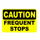 Caution Frequent Stops Truck Decal