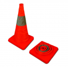 "18"" Orange Collapsible Cone with Reflective"