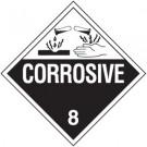 D.O.T. Corrosive Class 8 Placard