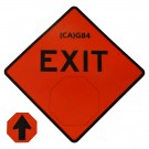 G84 Exit w/ Arrow Roll-Up Sign