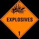D.O.T. Explosives Class 1 Placard
