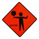 C9A Flagger Symbol Roll-Up Sign