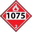 D.O.T. Flammable 1075 Class 2 Placard