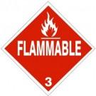 D.O.T. Flammable Class 3 Truck Placard