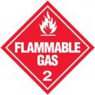 D.O.T. Flammable Gas Class 2 Placard
