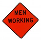 Men Working Roll-Up Sign