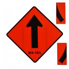 W4-1L/R Merge Combo Roll-Up Sign