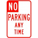 Temporary No Parking Any Time