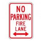 No Parking Fire Lane w/ Bottom Arrows