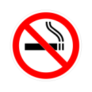 No Smoking Truck Decal