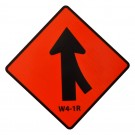 W4-1R Right Merge Roll-Up Sign