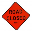 R11-2 Road Closed Roll-Up Sign