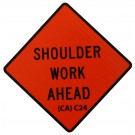 C24 Shoulder Work Ahead Roll-Up Sign