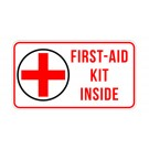 First Aid Kit Inside Truck Decal