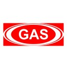 Gas w/ White Oval Decal
