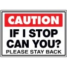 Caution Please Stay Back Truck Decal
