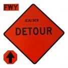 SC9 Detour w/ Arrow Roll-Up Sign