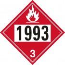 D.O.T. Flammable 1993 Liquids Truck Placard