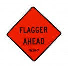 W20-7 Flagger Ahead Roll-Up Sign