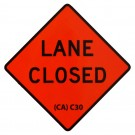 C30 Lane Closed Roll-Up Sign