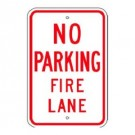 No Parking Fire Lane Sign