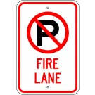 No Parking Fire Lane Symbol