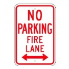 No Parking Fire Lane w/ Bottom Arrows