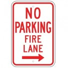 No Parking Fire Lane w/ Right Arrow