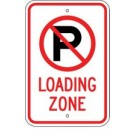 No Parking Loading Zone Symbol Sign