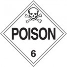D.O.T. Poison Class 6 Placard