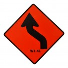 W1-4L Reverse Curve Left Roll-Up Sign