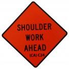 C24 Shoulder Work Ahead Roll-Up Sign