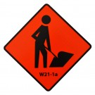 W21-1a Workers Symbol Roll-Up Sign